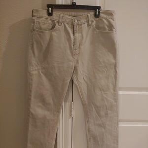 Levis 513 Mens Khaki Jeans 36 x 30